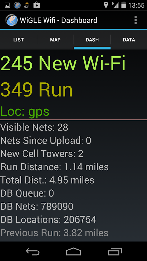 Wigle Wifi Wardriving - screenshot