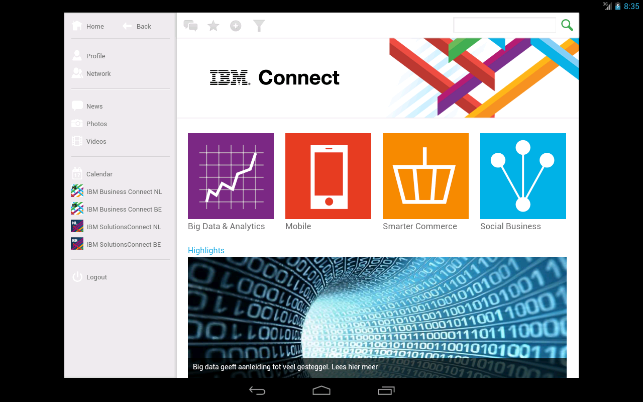 IBM Connect- screenshot