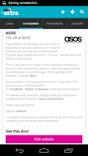 NUS extra - Student Discounts- screenshot thumbnail