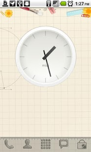 MIUI Analog Clock widget - screenshot thumbnail