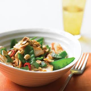 Spicy Chicken Stir-Fry with Peanuts.