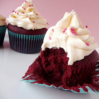 Red Velvet Cupcakes with Cream Cheese Frosting