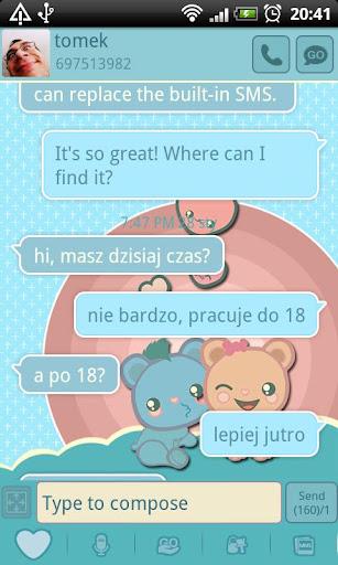 GO SMS Pro Blue Bears Theme