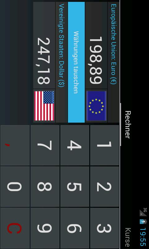 currency converter - screenshot