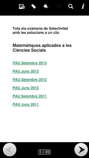 Exàmens PAU Matemàtiques CCSS