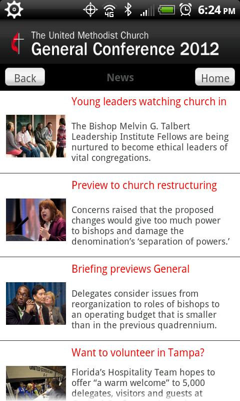 UMC General Conference - screenshot