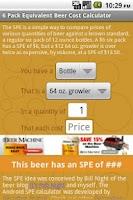 Screenshot of Beer Cost Calculator