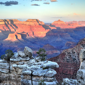 The Grand Canyon at sunset by Terry Niec - Landscapes Travel ( mather point, sunset, arizona, canyon, american southwest, grand canyon,  )