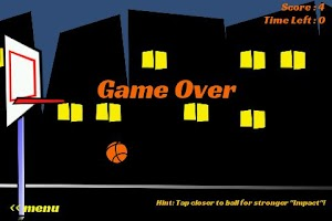 Screenshot of Basketball Games Impact Shot