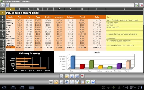 Office 2012: PlanMaker Mobile - screenshot thumbnail