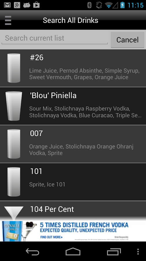 Mixology™ Drink Recipes - screenshot
