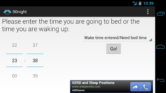 90night: SleepyTime Calculator- screenshot thumbnail