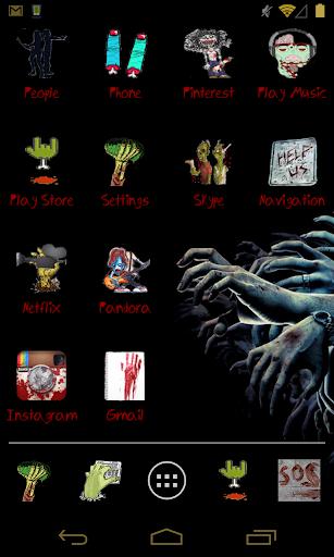 Zombie Theme for ADW Apex Nova