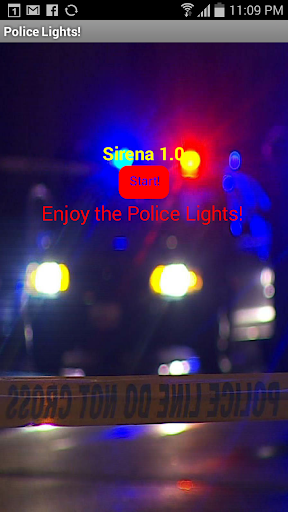 Police Lights and sound