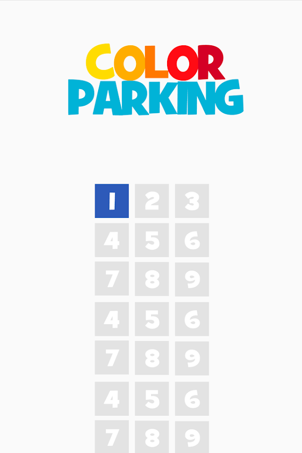 Color Parking - about squares- screenshot