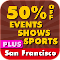 50% Off San Francisco Plus logo