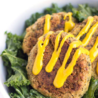 Baked Quinoa Falafel with a Creamy Turmeric Sauce