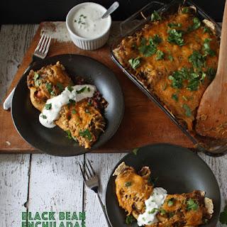 Black Bean Enchiladas with Jalapeno Crema