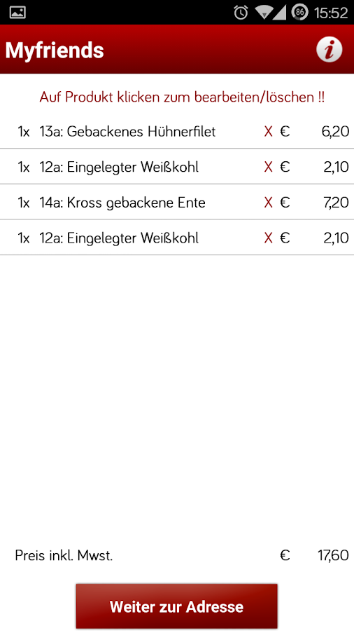 Myfriends Lieferservice Berlin- screenshot