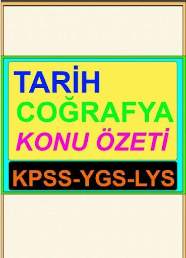 Tarih Cografya öz KPSS YGS LYS