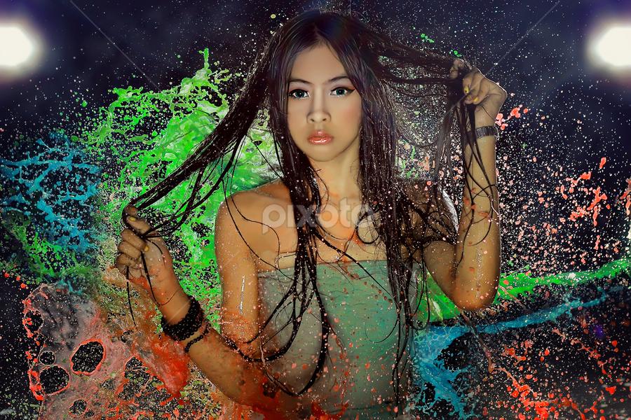 by Raffsanjani Ayub - People Fashion ( water, canon, fashion, girl, lighting, colorful, color, pixoto, beauty, women, portrait )