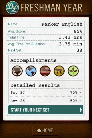 Dean's List Trivia Game - screenshot