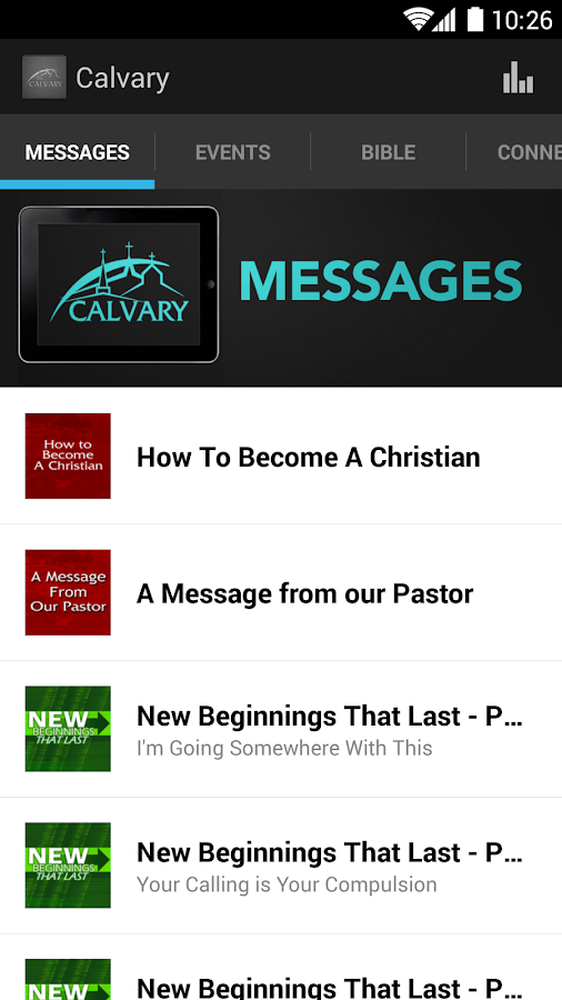 Calvary Baptist Church App - screenshot