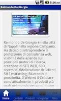 Screenshot of Raimondo De Giorgio