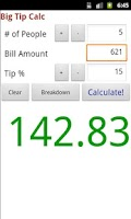 Screenshot of Big Tip Calc - Tip Calculator