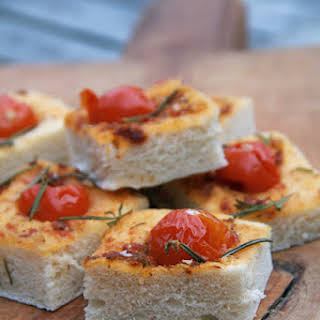 Super Moist Foccacia with Tomatoes.