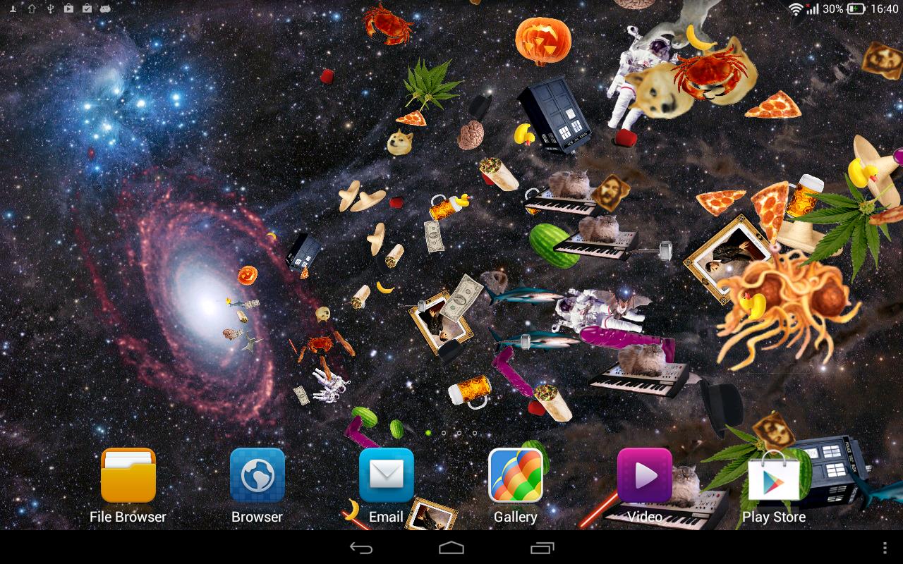 Space Portal Live Wallpaper Poster