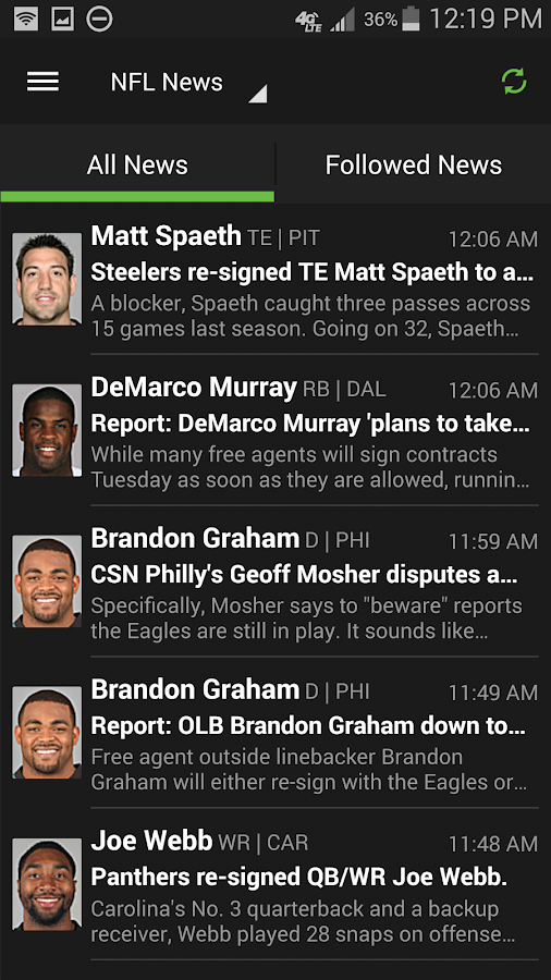 Playerline: Fantasy Football - screenshot