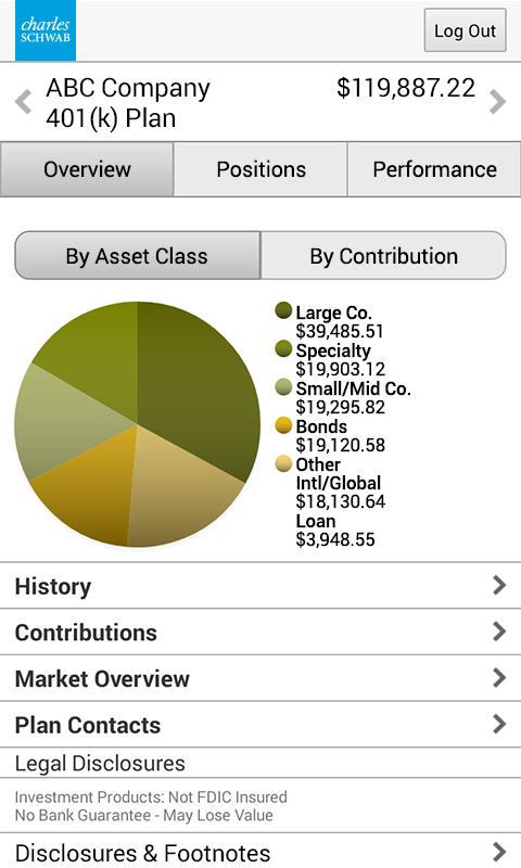 Schwab Workplace Retirement - screenshot