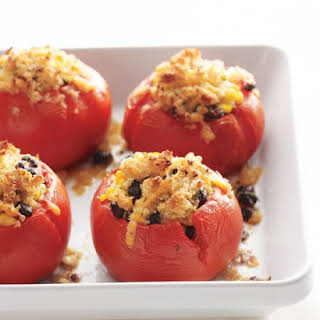 Tomatoes Stuffed with Corn and Black Beans.