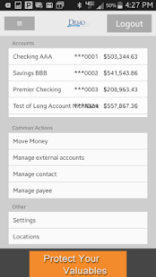 Cavion Mobile Banking App - screenshot thumbnail