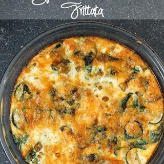 Spinach & Zucchini Frittata.