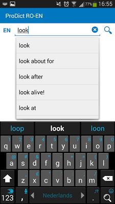 Romanian - English dictionary - screenshot