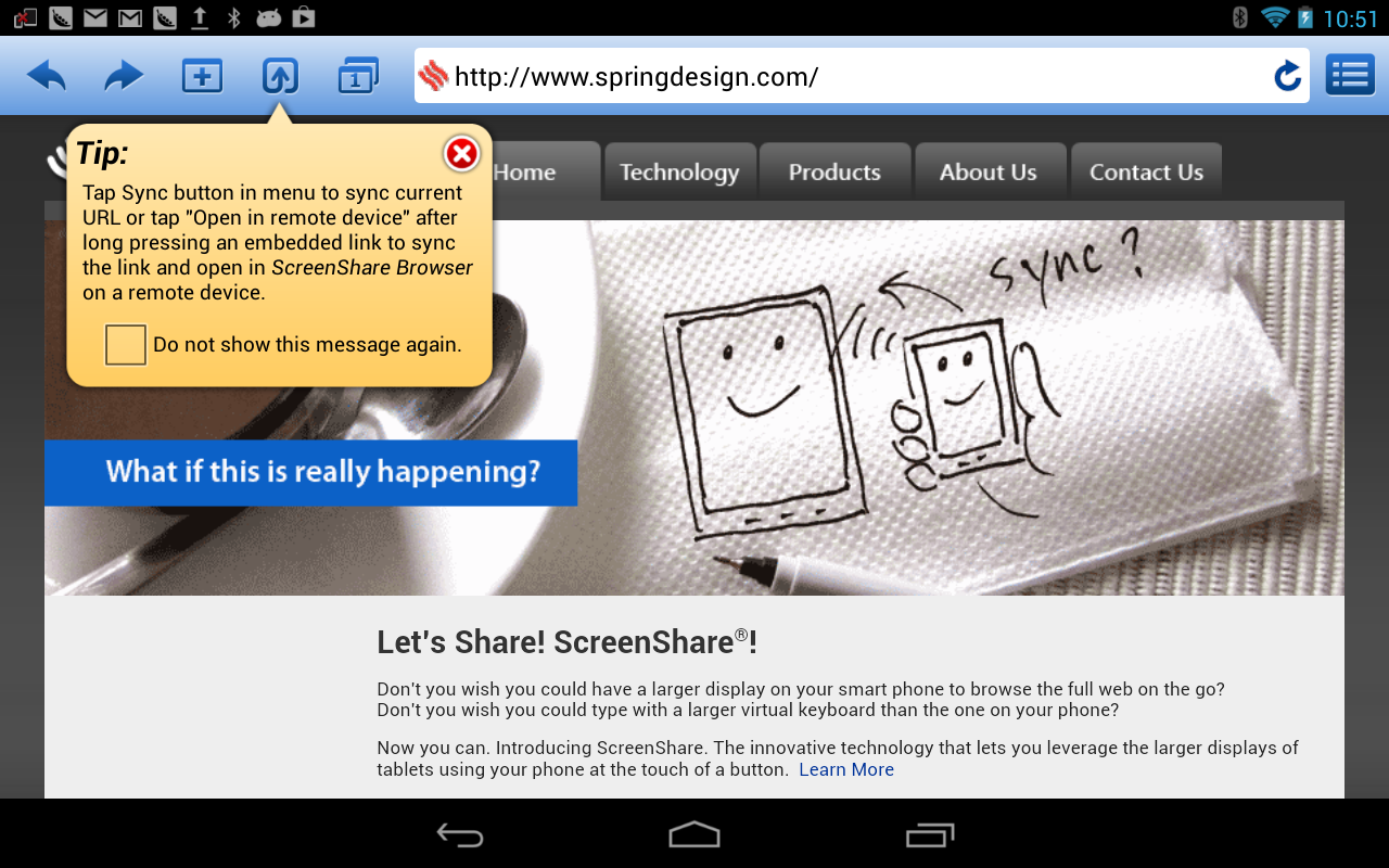 ScreenShare (tablet)- screenshot