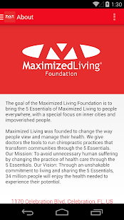 Maximized Living Foundation- screenshot thumbnail