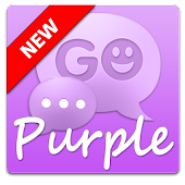 Purple GO SMS Theme