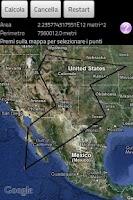 Screenshot of Area & Distance Calculator GPS
