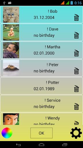 生日提醒小工具
