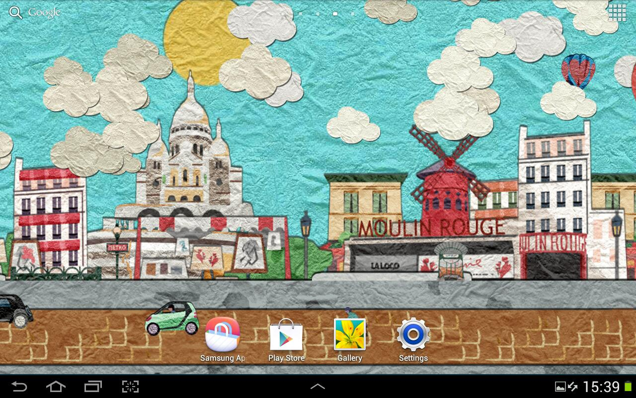 Paper Paris Live Wallpaper - screenshot