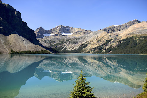 Lac des Bow by  J B  - Landscapes Waterscapes ( parkway, banff national park, bow lake )