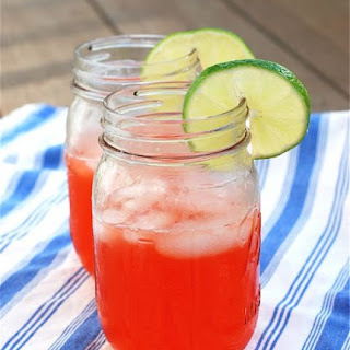 Strawberry Vodka Lime Coolers.