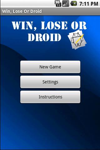 Win, Lose Or Droid - screenshot