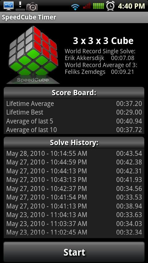 SpeedCube Timer- screenshot
