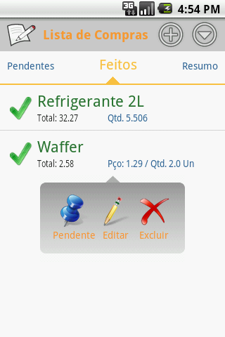 Shop List- screenshot