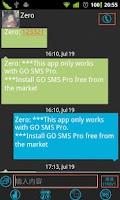 Screenshot of IWinphone Theme GO SMS