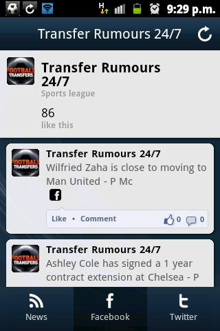 Transfer Rumours 24/7 - screenshot